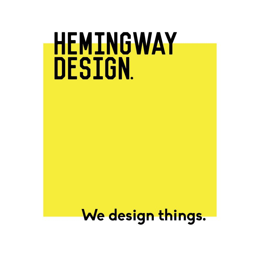 hemingway design logo square yellow